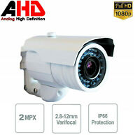 TELECAMERA AHD 2 MPX VARIFOCALE 2.8MM - 12MM 36 LED IR zoom infrarossi 1080p ccd