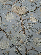 Scalamandre Curtain/Upholstery Fabric 'PONDICHERRY' Mineral 3 METRES (300cm)