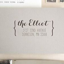 Personalized Custom Name Card Address Handle Mounted Rubber Stamp RE733