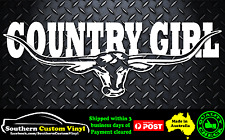 COUNTRY GIRL LONGHORN Window Sticker Decal