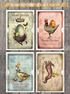 20 vintage Osterkarten, Postkarten Nostalgie, 4 Motive im Set 10,5x 14,8