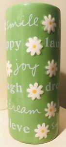 "Inspiring Green Smooth Glossy Ceramic Home Decor Flowers Pot Bud Vase 8"" Tall"