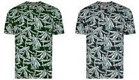 Mens t Shirt Short Sleeved By Kam Jeans Floral tee Khaki Navy Sizes 2XL-8XL