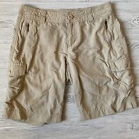 Columbia beige cargo quick dry outdoor Shorts Womens Size 8