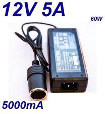 Cargador Coche Mechero 12V 5A 5000mA 60W vs Cable Alimentacion 220V 12V CAR