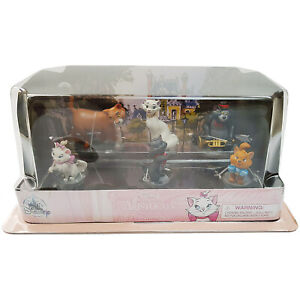 Disney Store Aristocats Figure Play Set Figurine Cats Duchess O'Malley Marie NEW
