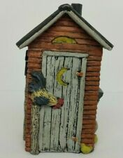 Country Outhouse with Chickens Decorative Figurine Country House Collection