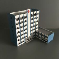 Outland Building Hospital Model N Scale 1/160 Hospital 9 Story White Building