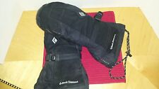 Black Diamond Snowmobile Goretex and Leather Mittens Snow Skiing Guide Euc M