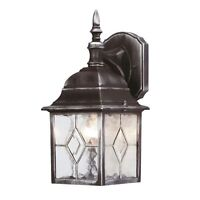Outside Outdoor Traditional Fake Lead Leaded Effect Wall Lantern Light Fitting