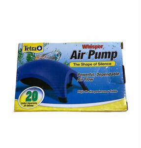 Tetra Whisper Air Pump, For 10 to 20 Gallon Aquariums - New