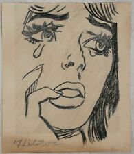 Pencil drawing signed ROY LICHTENSTEIN