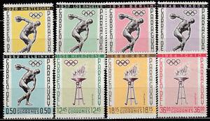 Paraguay - Courrier 1963 Yvert 704/8 + A.349/51 MH Olympiques De Melbourne