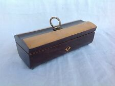 Coffret boîte bois précieux forme cénotaphe cercueil Époque Louis Philippe XIXe
