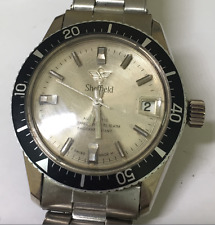 Vintage Sheffield Automatic Diver Watch Men's Parts/Repair 10 ATM Swiss