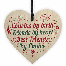 Best Friend Gifts For Cousin Birthday Christmas Card Gifts Wooden Heart Keepsake