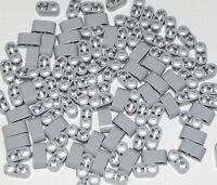Lego Lot of 100 New Light Bluish Gray Technic Liftarm 1 x 2 Thick with Pin Hole