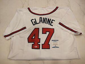 Tom Glavine Autographed/Signed Jersey Beckett COA Atlanta Braves Replica