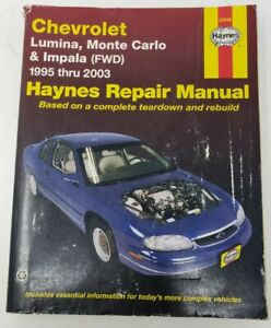 Service Repair Manuals For Chevrolet Impala For Sale Ebay