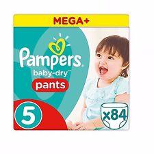 Pampers Mega Plus Baby-seco, pantalones tamaño 5, paquete de 84-Entrega Gratuita