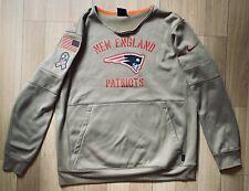 Nike Dri Fit New England Patriots NFL Sweatshirt XL Military Sideline NWOT