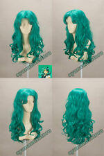 LMRA737  fashion curly long turquoise blue hair wigs for women wig