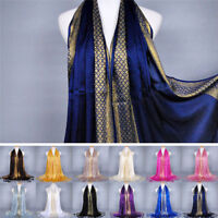 Cotton Tassel Long Hijab Pashmina Shawl Scarf Scarves Stole Wrap Fashion Women ^