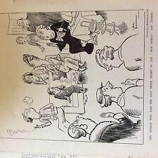 A1d ephemera 1936 london gas cartoon woman never heard of new world cooker