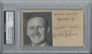 WALTER JOHNSON PSA/DNA CERTIFIED AUTHENTIC SIGNED SHEET AUTOGRAPHED HOF