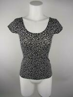 Garage Women S Black Cotton Spandex Floral Scoop Neck Short Sleeve T-Shirt Top