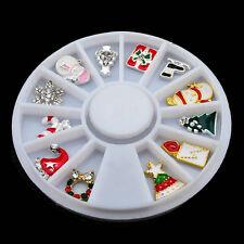 3D Christmas Stylish Nail Art Decoration 12PCS Charms Rhinestones Jewelry