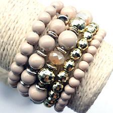 FREE New Fashion Western Tibet 5pcs/Set Stretch Beads Lady Bracelet Bangle Charm