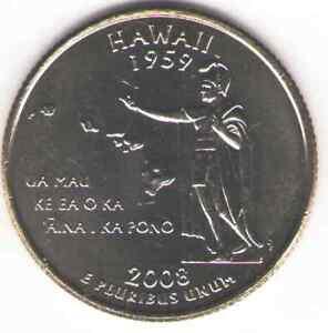 US. 2008-P. HI. Hawaii Statehood (1959) Quarter. Uncirculated.