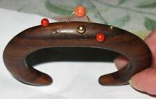 bracciale in legno corallo e oro 18ct