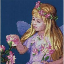 Rose Fairy Counted Cross Stitch Kit Dimensions NEW fantasy pink girl child art