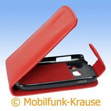 Flip Case Etui Handytasche Tasche Hülle f. Samsung GT-S6810P / S6810P (Rot)