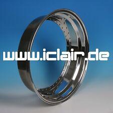 Felgenhälfte Felgenbett 2,5 x 18 Aluminium poliert RIAL Daytona Race NAGELNEU !