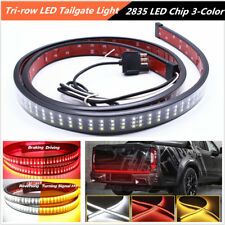 "60"" 3-Color LED 3-Row Car SUV Tailgate Light Strip Turn Signal Brake Tali Lamp*1"