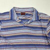 Hilfiger Denim Red Label Polo Shirt Mens Large Short Sleeve Multi-Striped Cotton