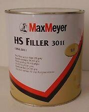 Max Meyer 2k High Build 3011 Grey Primer Filler HS Top Filler 2.5Ltr Car Body