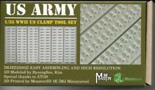 MJ Miniatures US Army Clamp Tool set WW2 1/35th Unpainted kit