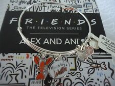 Alex and Ani FRIENDS YOUR'E MY LOBSTER DUO Silver Bangle New W/Tag Card & Box