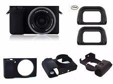 A33a Silicone Armor Skin Case + Two EyeCup FDA-EP10 for Sony Alpha A6000 A6300