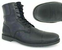 "Timberland Men's Lafayette Park 6"" Inch Black Leather Boots Cap Toe Memory A1QDQ"
