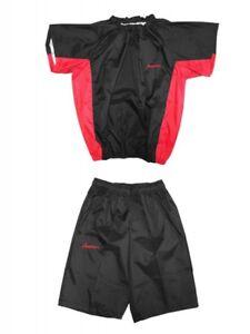 americaya Sauna suit Short sleeve · half pants fighter specifications Black  Red