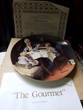 "Norman Rockwell Collector Plate"" The Gourmet "" 1984 Knowles Fine China"