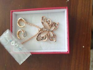 Xuping jewellery butterfly necklace ,2 rings 2 earrings