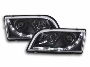 VOLVO S40 & V40 BLACK DRL HEADLIGHTS DAYTIME RUNNING LIGHTS 1996-2004 MODEL