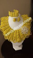 Sale sale: Yellow coral beaded necklace set for Nigerian big party.