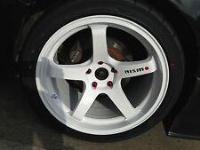 Nismo sticker for wheel spoke X4 silvia,skyline,pulsar,350Z,370Z,350GT black red